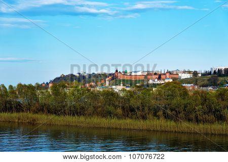 View Of Volga Embankment With Kremlin In Nizhny Novgorod.