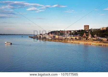 View Of Lower Volga Embankment In Nizhny Novgorod.