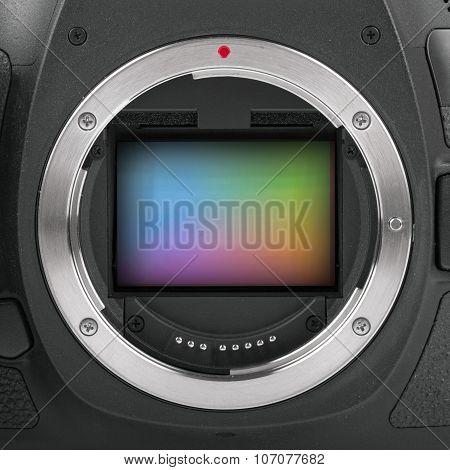 Closeup Of Full Frame Camera Sensor
