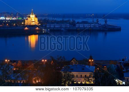 View Of Alexandr Nevsky Cathedral At Night