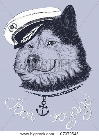 Dog Captain Portrait