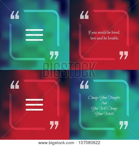 Square Quote Text Bubble