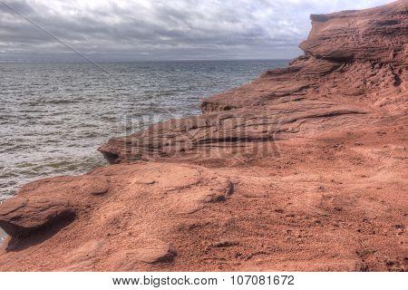 eroding coastal sandstone, Prince Edward Island