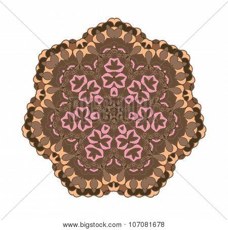 Brown circular pattern background.