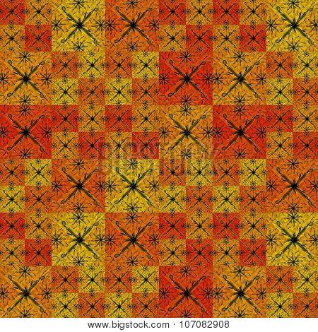 Geometric Modern Patchwork Pattern