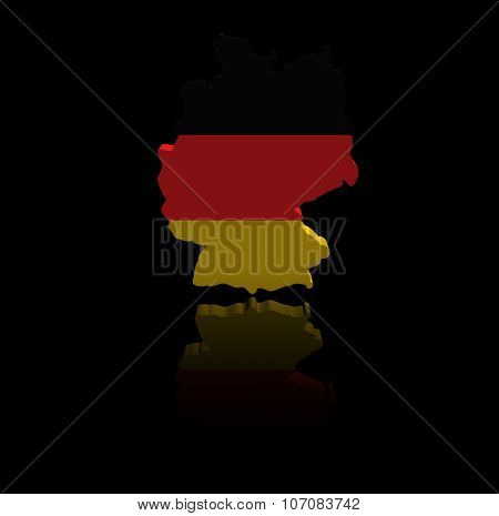 Germany map flag with reflection illustration