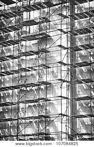 Scaffolding Construction Black And White