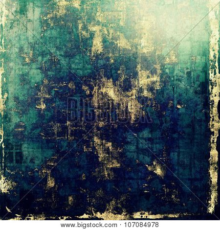 Dirty and weathered old textured background. With different color patterns: yellow (beige); green; blue; cyan