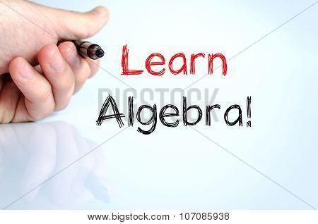 Learn Algebra Text Concept