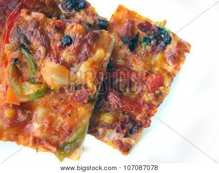 Bulgarian Pizza Isolated