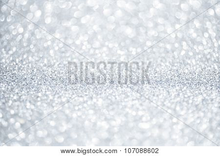 New Year shiny background. Abstract silver background with copy space