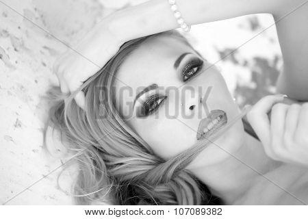 Portrait Of Charming Woman
