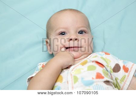 Baby Boy Sucking His Finger