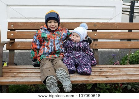 Two Brothers On The Bench