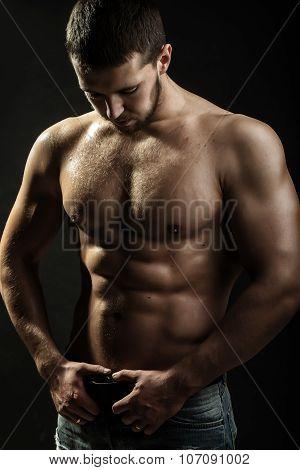 Sexual Muscular Man