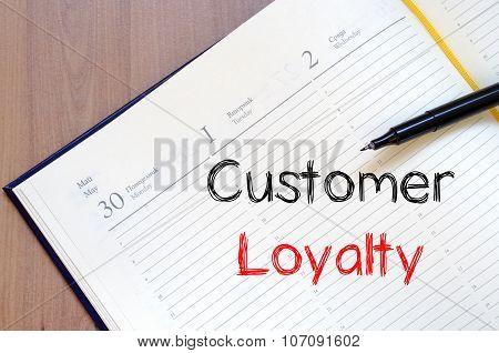 Customer Loyalty Write On Notebook