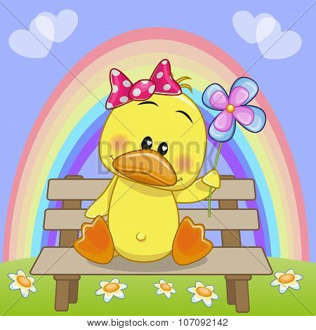 Duck With Flower