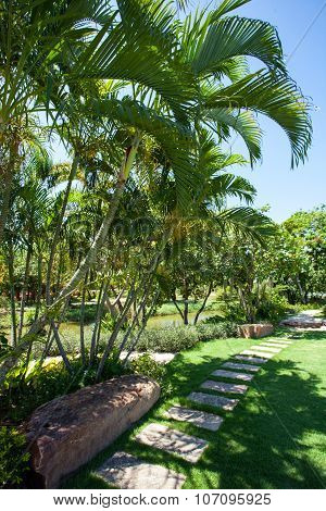 BANGKOK, THAILAND - JULY 30, 2015: Ancient Siam ( Ancient City, Mueang Boran) park