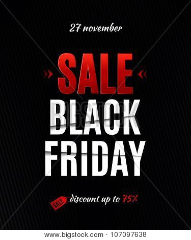 Black Friday Sale Poster. Black Friday Sale Inscription Design Template