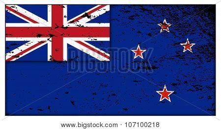 New Zealand Flag Grunged