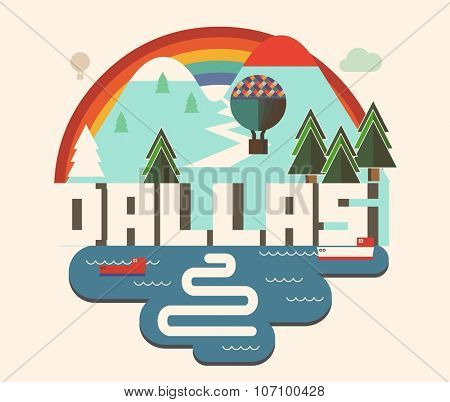 Vintage Dallas beautiful city in world