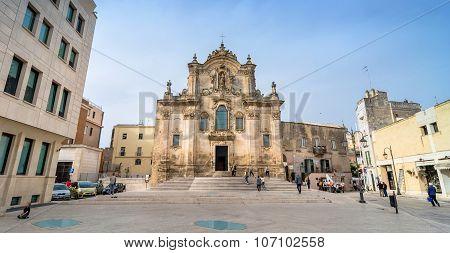 Church Of St. Francesco. Matera. Basilicata. Italy.