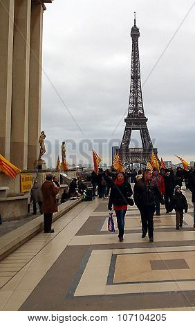 Demonstration At Trocadero