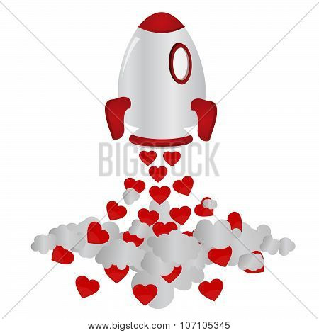 Rocket And Hearts