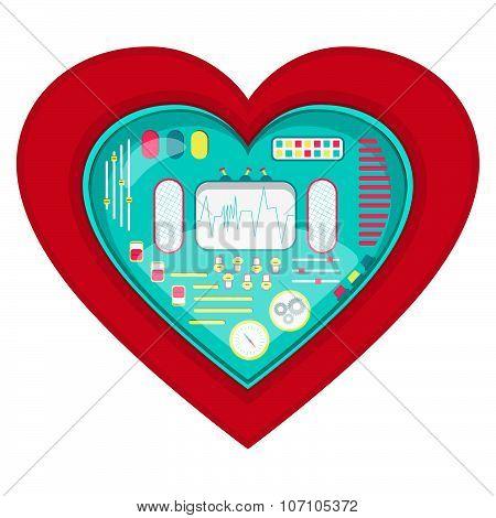 Mechanical Heart Shape