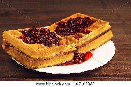 Soft Homemade Waffles