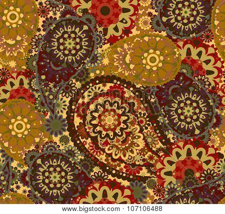 India ornament paisley and mehndi designs