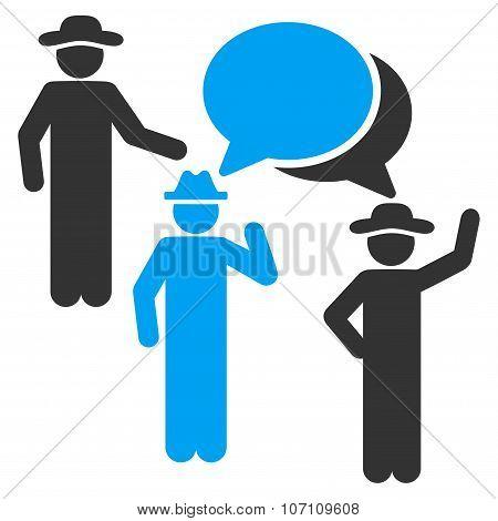 Gentlemen Discussion Icon