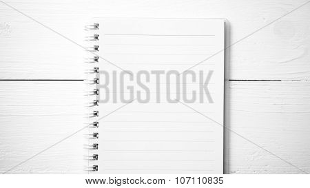 Notepad Black And White Color