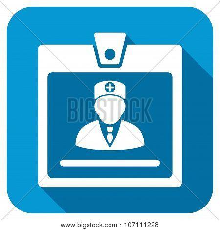 Doctor Badge Longshadow Icon