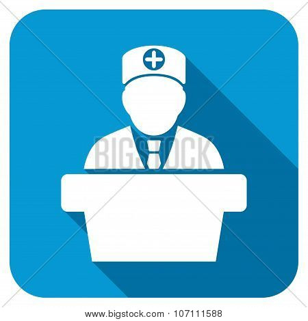 Medical Official Lecture Longshadow Icon