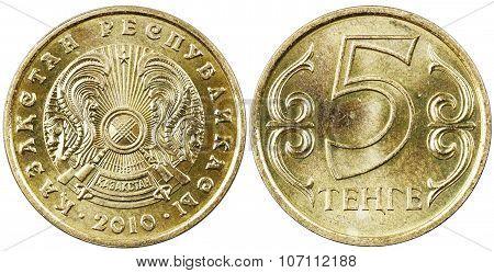 Kazakh coin five tenge