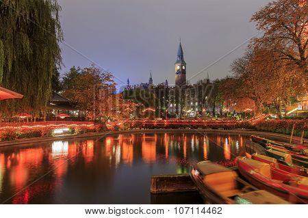 Traveling In The Famous Tivoli Park, Copenhagen