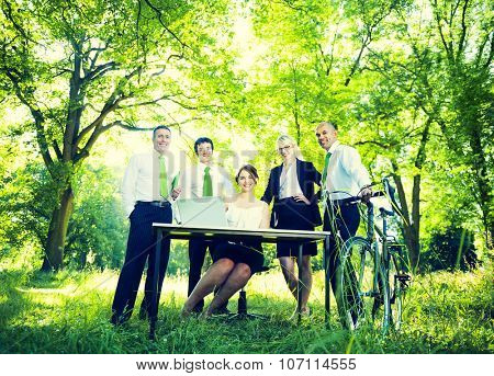 Green Business Team People Environmental Concept