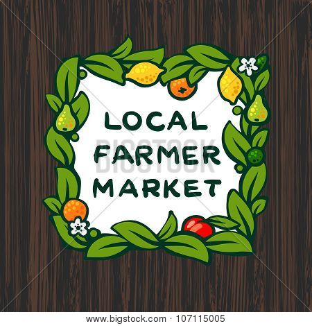 Local farmer market, farm logo design