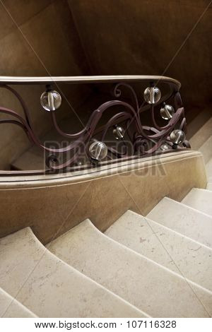 Wrought Iron Handrail Inside A House