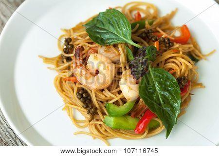 Thai Shrimp with Noodles Meal