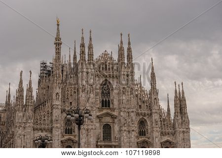 Cathedral In The Downtown Of Milan