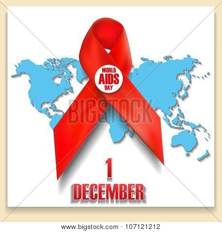 The Red Ribbon World Aids Day Concept.
