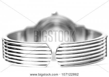 Shiny metal watch image taken withe focus stacking