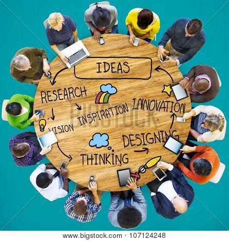 Ideas Thinking Innovation Motivation Tactics Concept