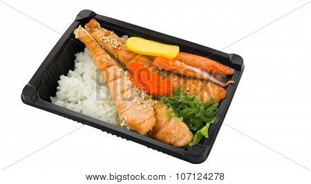Japanese Cuisine. Lunch Box Set