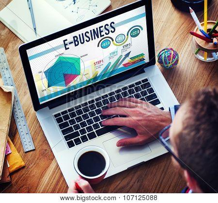 E-Business Global Business Digital Marketing Concept