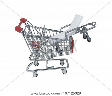 Hospital Gurney In A Shopping Cart