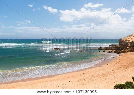 Beautiful Sunny Day At Australian Beach.