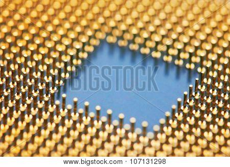 Computer processors CPU, closeup